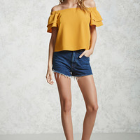Off-the-Shoulder Boxy Top