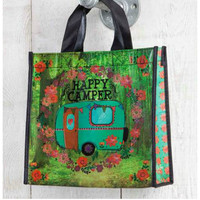 Natural Life Recycled Bag - Happy Camper