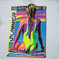 vintage 90s SUMMER BEACH SURF large size