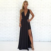 Always Your Girl Maxi Dress In Black