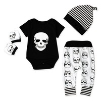 Baby Clothing Sets (Short Sleeve) Skull Print