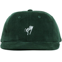 OK Corduroy Polo Hat Forest Green