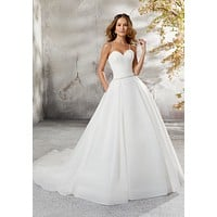 Blu by Morilee 5696 Laurissa Chic Organza Ball Gown Wedding Dress