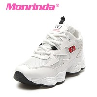 Monrinda Summer Women Sneakers Breathable Running Shoes White Sport Woman Shoes Comfort Rubber Athletic Jogging Walking Shoes