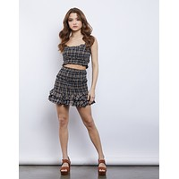Check It Out Smocked Plaid Set