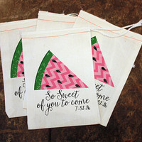 Summer BBQ Favor Bags - Summer Party Treat Bag / BBQ Goody Bag / Watermelon Gift Bag / Mens Barbecue Candy Decor / So Sweet of You to Come