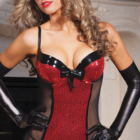 Red Sequined Chemise Lingerie