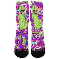 Reptar Rugrats Custom Athletic Fresh Socks