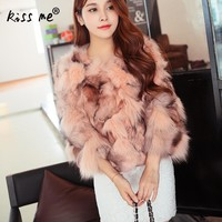 New Arrival Fox Fur Vest Waistcoat Women Fur Vest Coat Fashion Women Work Clothing Kamizelka Futro Faux Fur Vest Women Free Size