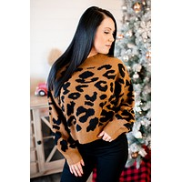 Cropped Leopard Pullover (Brown) FINAL SALE