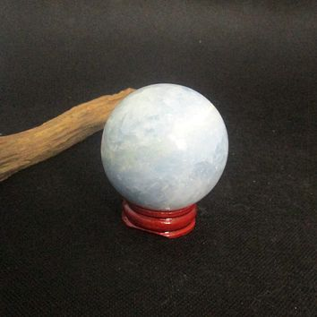 Blue Calcite Sphere & Stand