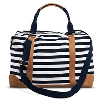 Women's Striped Weekender Handbag - Navy/White