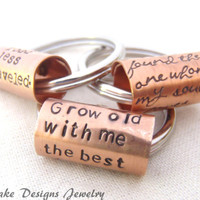 Custom quote keychain womens gift mens personalized wedding gift