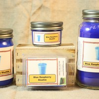 Blue Raspberry Slushie Scented Candle, Blue Raspberry Slushie Scented Wax Tarts, 26 oz, 12 oz, 4 oz Jar Candles or 3.5 Clam Shell Wax Melts
