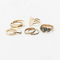 Turquoise Stone Ring Set - Urban Outfitters