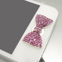 1PC Bling  Paved Crystal Flower Apple iPhone Home Button Sticker for iPhone 4,4s,4g, iPhone 5, iPad, Cell Phone Charm