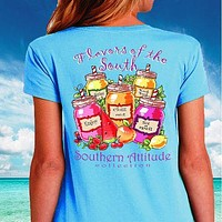 Sale Southern Attitude Preppy Flavors Of The South T-Shirt