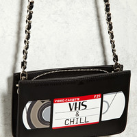 VHS Faux Leather Crossbody