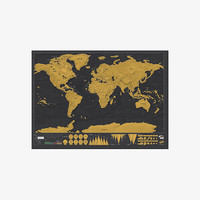 Scratch Off Deluxe World Map