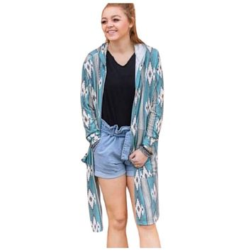 Crazy Train Oh Chute Hooded Duster Cardigan