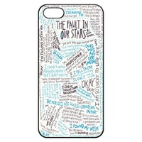 The Fault in Our Stars Okay Hard Back Shell Case Cover Skin for Iphone 5 Cases - Black/white/clear