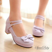 J-fashion Princess Style Thick Heel Lolita Shoes Free Shipping SP140490 from SpreePicky