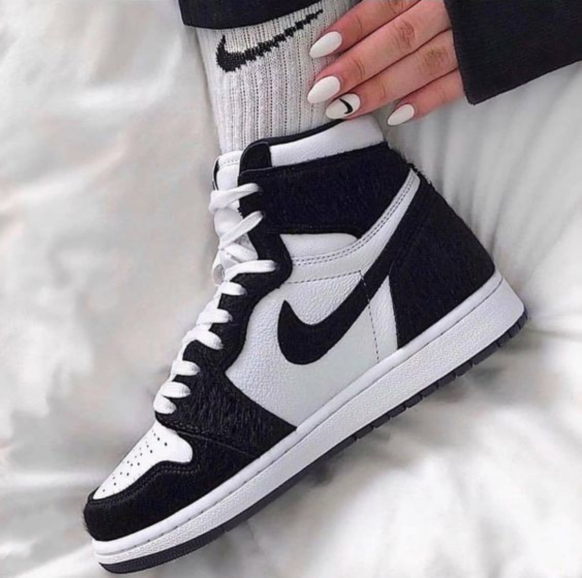 Image of Air jordan 1 classic black and white men and women high-top sneakers Shoes