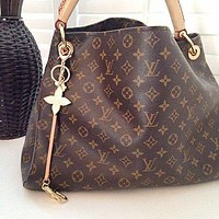LV Louis Vuitton Fashion Single Shoulder Bag for Women's Printed Shopping Bags