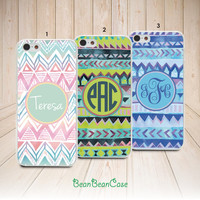 Aztec tribal monogram custom name case personalized cover for Moto X Moto G Moto E case (L16)