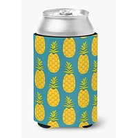 Pineapples on Teal Can or Bottle Hugger BB5145CC