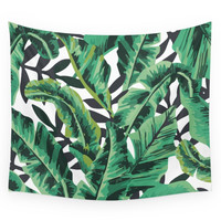 Society6 Tropical Glam Banana Leaf Print Wall Tapestry