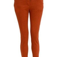Agatha Skinny Jeans with Tie Belt in Rust