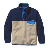 Patagonia Men's Synchilla® Recycled Snap-T® Fleece Pullover | Classic Navy w/El Cap Khaki