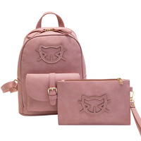 2016 PU Leather Casual Bag Hello Kitty Backpack Women Designer Bag Cat Cotton School Bags For Teenagers Backpack Travel Mochila