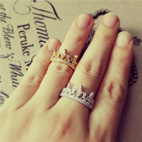 YAN & LEI Alloy Crown Shape Ring