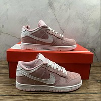 Morechoice Tuhh Nike Dunk Low Gs Prism Pink Casual Sneaker Skate Shoes Women Flats 309601-604