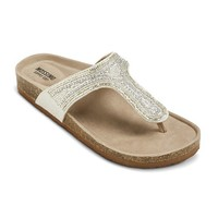 Women's Patrice Footbed Sandals - Silver