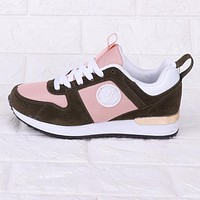 Louis Vuitton LV Fashion New Sports Leisure Contrast Color Running Shoes Pink