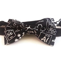 Science Bow Tie • Pre-Tied Bow Tie • Teacher Bow Tie• Chemistry Bow tie • Science Bowtie• Gifts for men • Christmas  Gifts • Math Bow Tie
