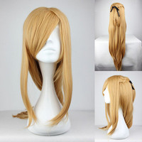 90cm Long Sword Art Online Yuuki Asuna Straight Brown Anime Cosplay wig COS-217D