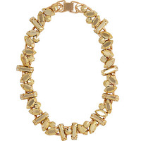 River Island Womens Gold tone chunky stone necklace