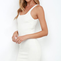 Don't Be Square Ivory Bodycon Dress