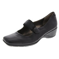 Naturalizer Womens Gable Leather Mary Jane Wedge Heels