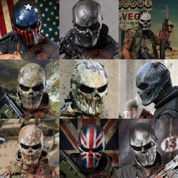 Outdoor Wargame Tactical Mask Full Face Airsoft Paintball