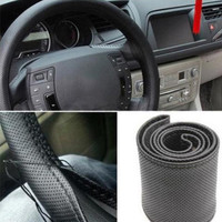 New Leather DIY Car Steering Wheel Cover With Needles and Thread 3 Color Choose = 1932843652