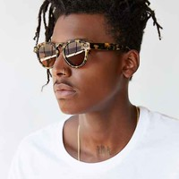 KOMONO CRAFTED Clement Tortoise Demi Sunglasses- Brown One