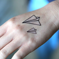 Spirit Ink Temporary Tattoo - Paper Plane