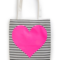 ban.do canvas tote pink heart