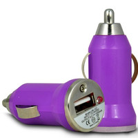 Universal USB Car Charger Adapter - Purple