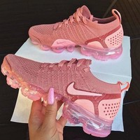Nike Air Vapormax Flyknit 2.0 Rose Pink Fashionable Women Sports Shoes Sneakers